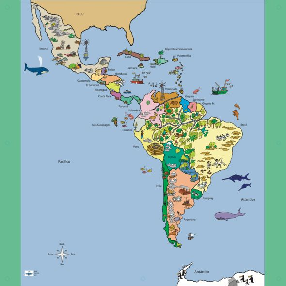 Map of Latin America - StreetSmart Play